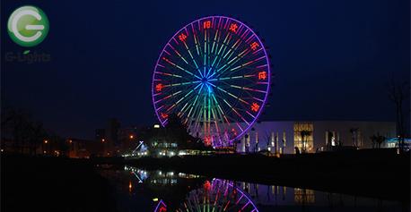 南京游樂園摩天輪照明案例