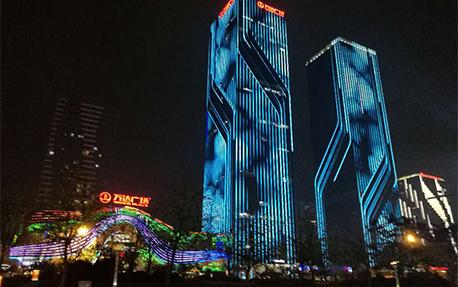 萬達廣場樓體亮化照明案例