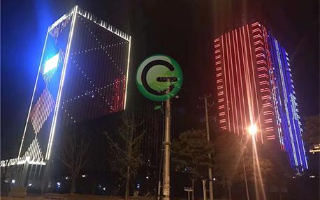南通辦公樓大廈樓體亮化照明案例